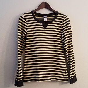 Patagonia organic cotton striped long sleeve top